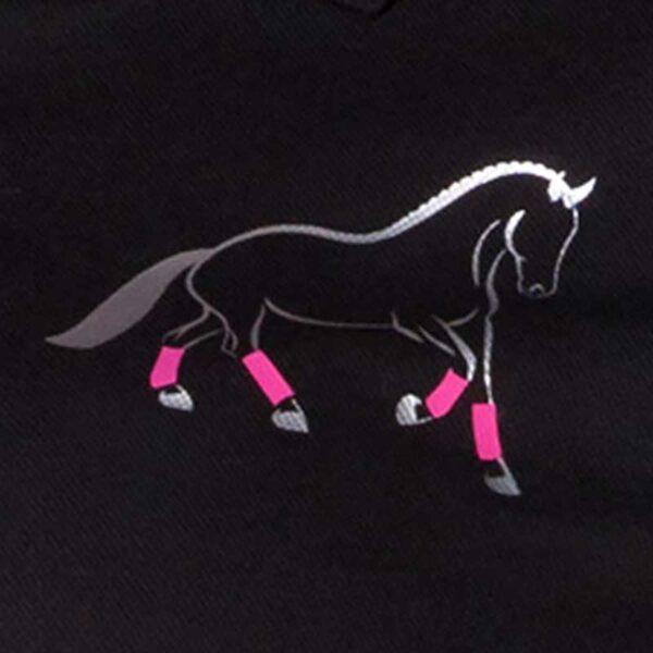 custom design polo shirt pink horse design close up jojubi saddlery 800