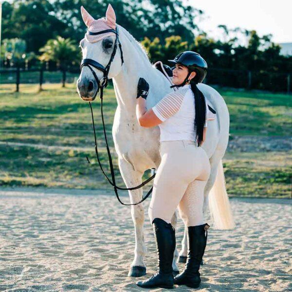 equestrian riding tights chiffon flexion back left performa ride 800