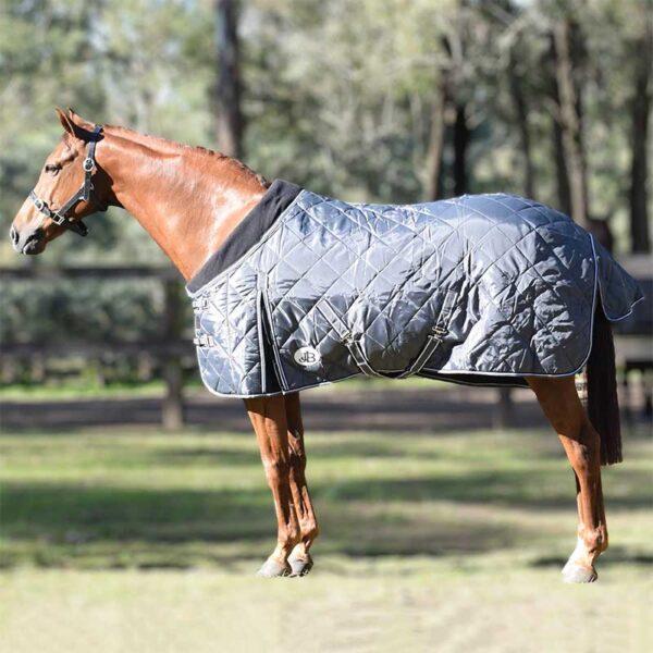 quilted stable horse doona grey left side a jojubi saddlery 800