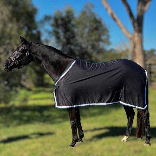 trophy horse rug black green left side jojubi saddlery 800
