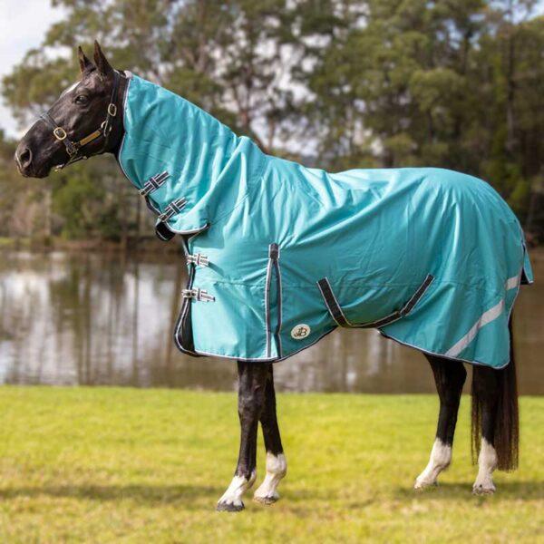 1200d winter combo 100 fill horse rug teal left side halo jojubi saddlery 800