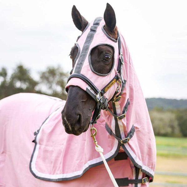 show set horse rug pink front jojubi saddlery 800